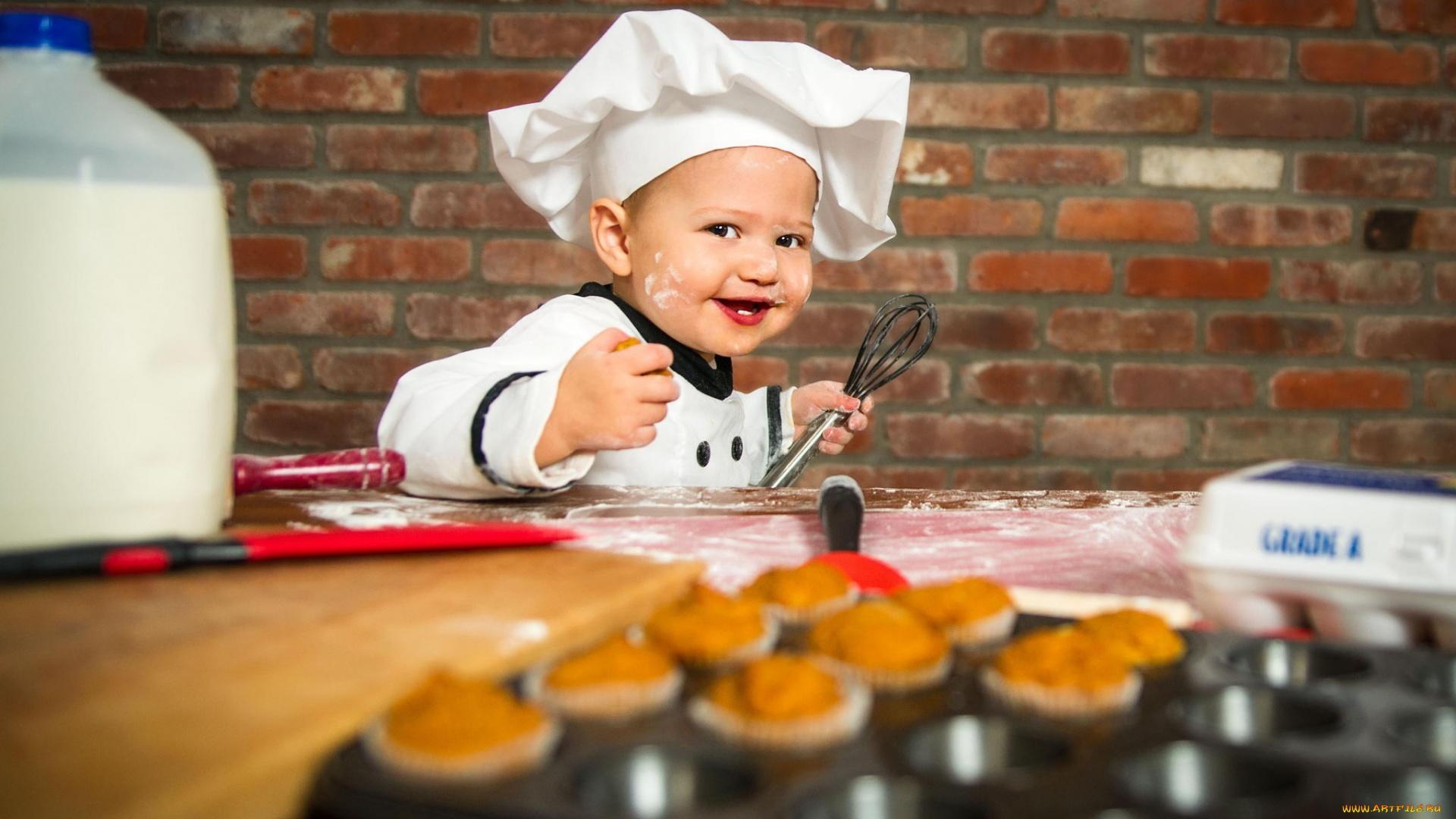 Смешные картинки ребенок повар